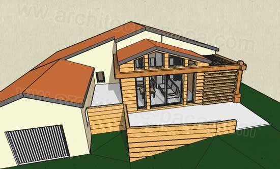 Extension maison bois en paca marseille - Plan d agrandissement de maison ...