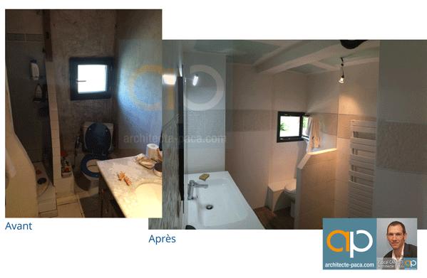 rénovation de salle de bain avec un architecte