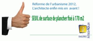 Architecte obligatoire et seuil des 170m2 surface de - Surface de plancher et surface habitable ...