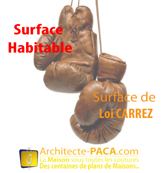 La loi carrez diff rente de la surface habitable for Calcul de la surface habitable d une maison
