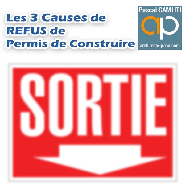 Refus de permis les 3 causes principales