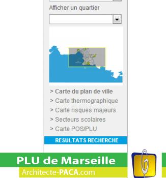 Carte PLU de Marseille