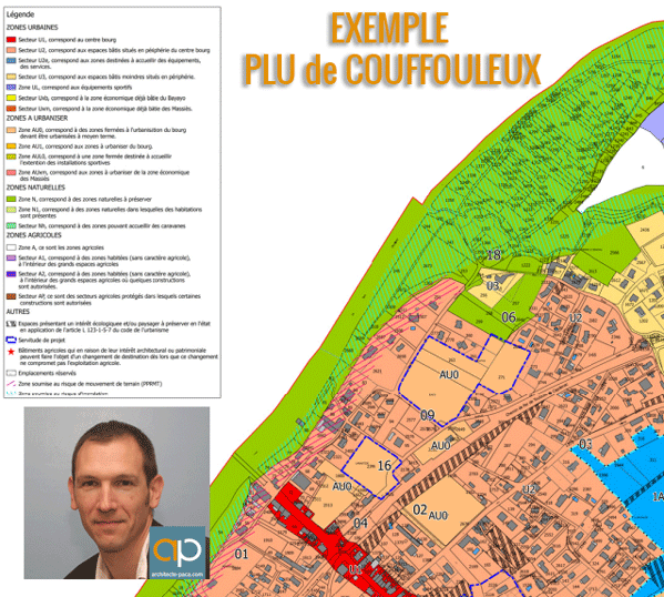 PLAN ZONAGE PLU-Couffouleux-TARN-Architecte