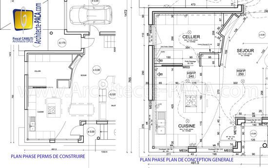 Plans permis de construire vs plans de conception g n rale for Obligation architecte permis de construire