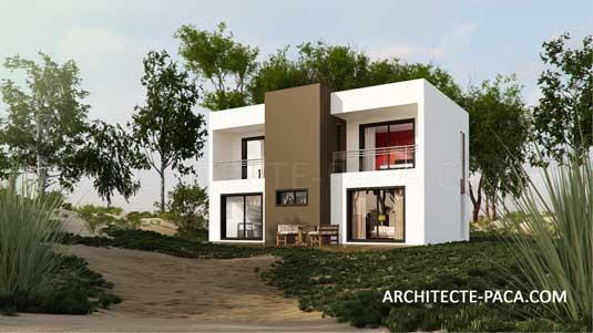 maison bois contemporaine toit plat pour 152 000 euros ttc. Black Bedroom Furniture Sets. Home Design Ideas