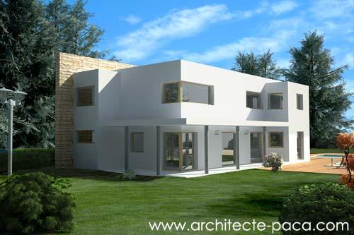 maison toit plat architecte PACA