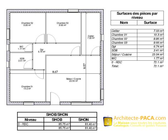 ratio surface de plancher shon. Black Bedroom Furniture Sets. Home Design Ideas