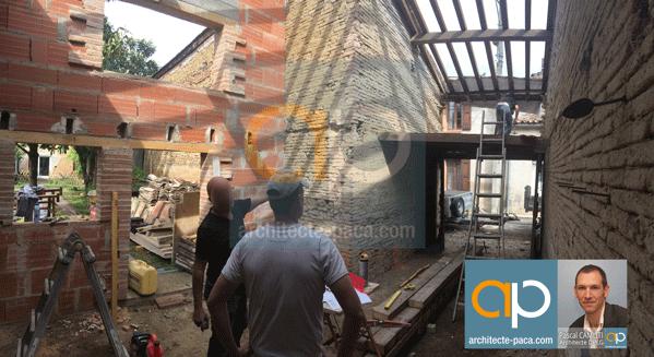 Rénovation maison en brique à Toulouse avec un Architecte