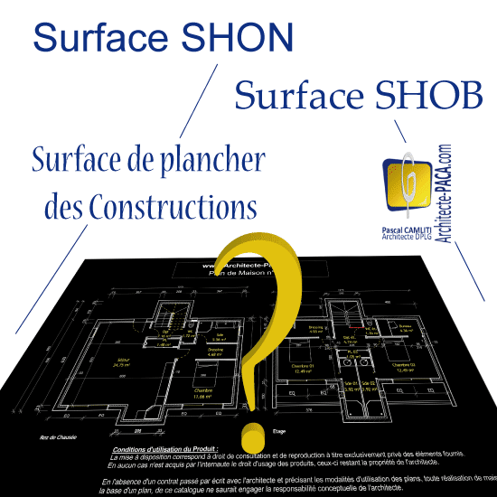 la surface de plancher des constructions vs la shon et la shob. Black Bedroom Furniture Sets. Home Design Ideas